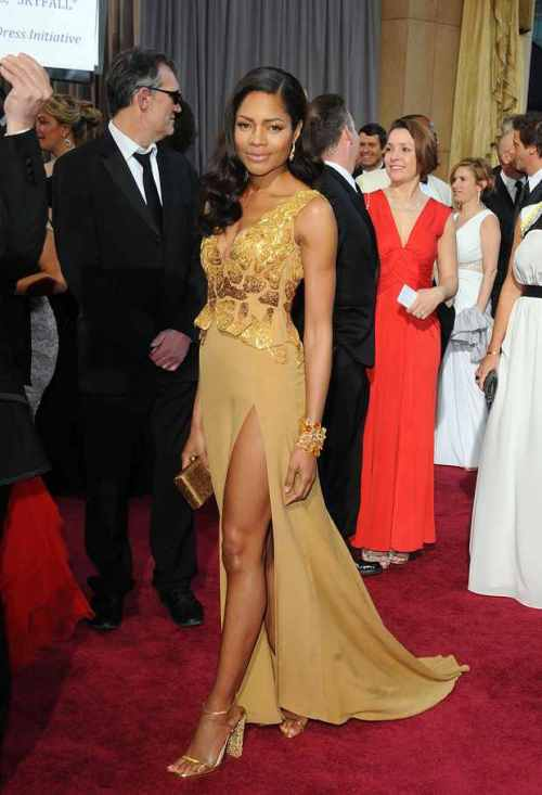Naomie Harris in Vivienne Westwood  created using recycled zippers, organic materials and even old chocolate wrappers